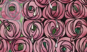Charles Rennie Mackintosh's rose and teardrop textile design, 1915-28.