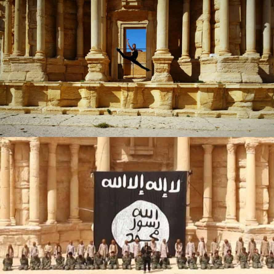 In an act of defiance, Ahmad Joudeh danced in the Palmyra theatre, which was previously used for executions by Isis
