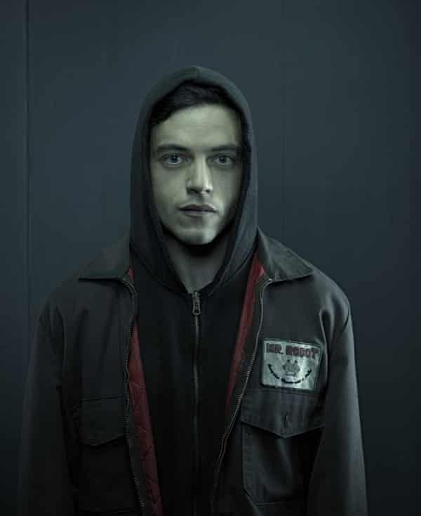 The iconic black hoodie.