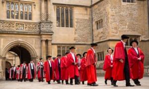 Procession of Oxford staff