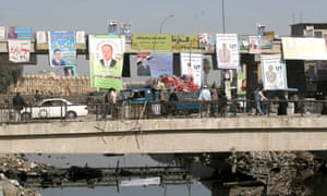A bridge over a waterway in Basra