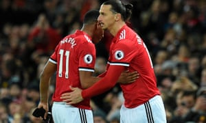 Zlatan Ibrahimovic replaces Anthony Martial to make his return from injury