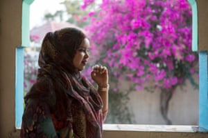 Farah, 26, from London, in the veranda of a house where she is staying for the summer in Hargeisa with her new husband, with a view to coming back here more permanently.