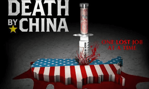 An image from Peter Navarro's 2012 documentary 'Death by China'
