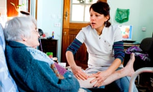 Patient and care worker