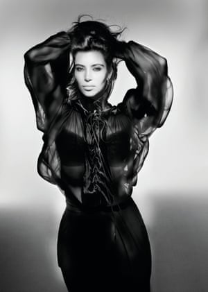 Kim Kardashian for V Magazine, September 2012One frequent collaborator is the photographer Nick Knight, who writes in the book: 'Sam has a very pronounced technical ability – he can do things that other people cannot do, physically. When you look and think he simply tousled the hair. Try getting someone else to do tousled and it doesn't work. See Sam work a wind machine, and he knows that you have one at the back pointing towards the floor, one at the front pointing towards the face. He's able to sculpt, with wind, these incredible hairstyles'