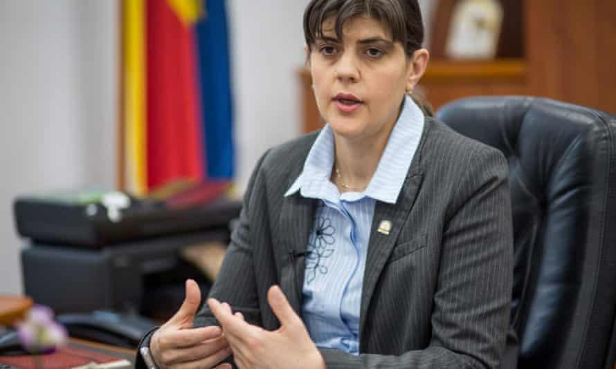 Laura Codruța Kövesi in her office at the DNA agency in Bucharest.