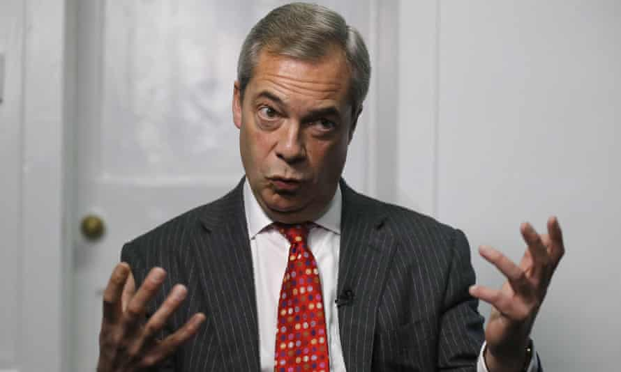 Farage said: 'No longer do we have a president who says that we're at the back of the line.'
