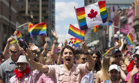 Trudeau says Canada will explore gender-neutral ID cards as he joins gay pride