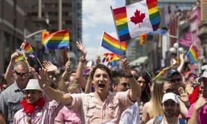 Bassel Mcleash at Toronto's Pride.