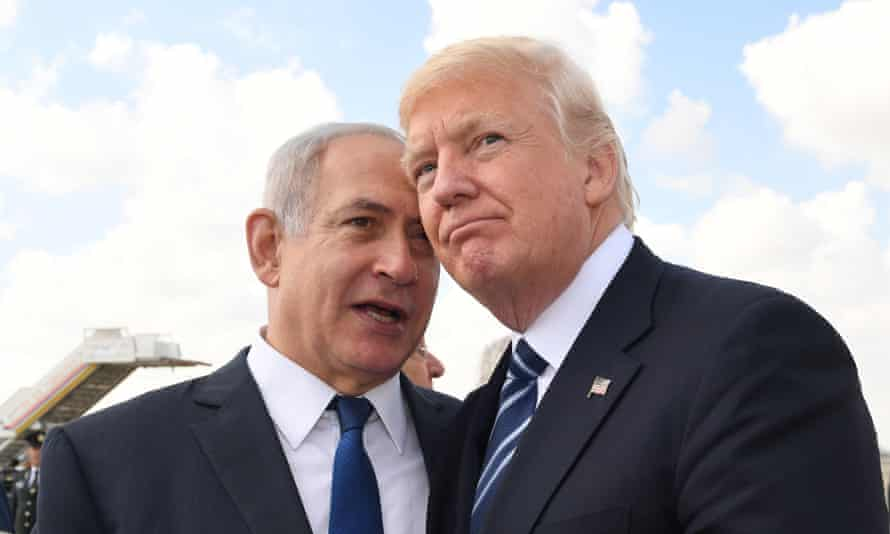 Benjamin Netanyahu and Donald Trump in Tel Aviv. Both are expected to use their speeches at the UN to highlight the threat posed by Tehran.