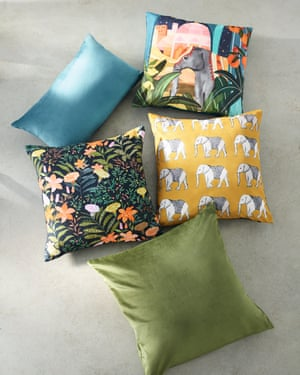 They provide the perfect neutral backdrop for you to add pops of colour to, l leaf-patterned outdoor cushions made from a water-resistant fabric that will withstand the occasional rain shower, or water fight.