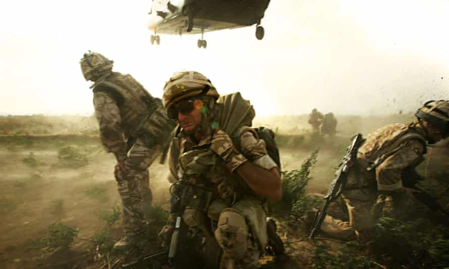 Soldiers from 1 Royal Anglian in Helmand province, Afghanistan, in Our War.