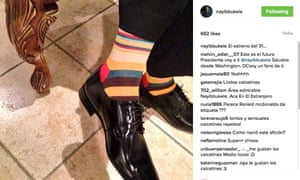 Nayib Bukele喜欢Instagram袜子。
