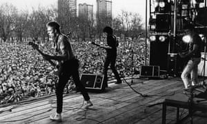 The Clash on stage at the April 1978 Rock Against Racism carnival in Victoria Park, east London