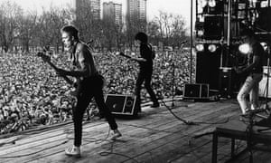 The Clash perform at the 1978 Rock Against Racism carnival in Victoria Park, Hackney.
