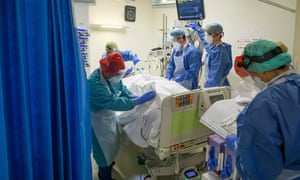 There has been a surge of hospitalisations in English hospitals.