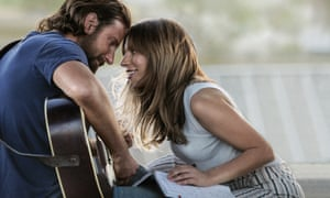 Shoo-in … Bradley Cooper and Lady Gaga in A Star is Born