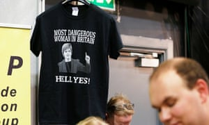 A t-shirt on sale at the SNP conference