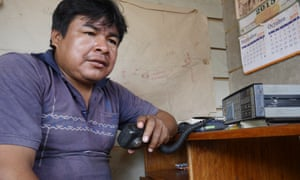 Protection agent Romel Ponciano has a close relationship with the Mashco Piro. He knows them all by name and they call him <em>Yotlotle</em>, which means giant otter, a species endemic to the Amazon.