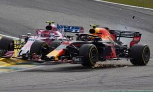 Verstappen and Ocon collide in Brazil