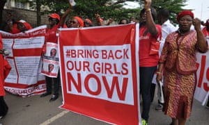A demonstration calling on the Nigerian government to rescue the Chibok girls.