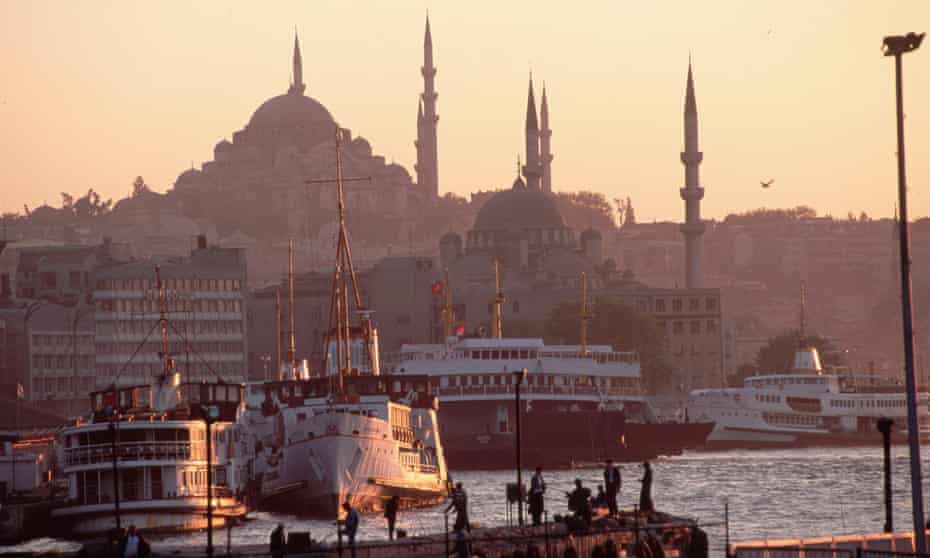 The mosques and minarets of Istanbul
