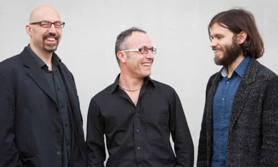 The Marco Marconi Trio: Enzo Zirilli (drummer), Marco Marconi and Andrea Di Biase (double bass)