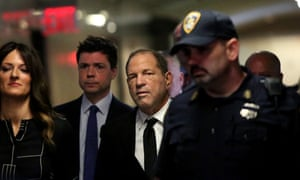 Harvey Weinstein arrives at a New York court for the arraignment over a new indictment for sexual assault, August 2019.