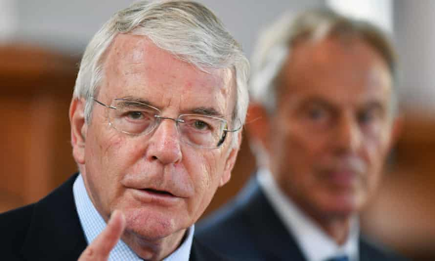 John Major, pictured campaigning for remain with Tony Blair in the run-up to the 2016 referendum.