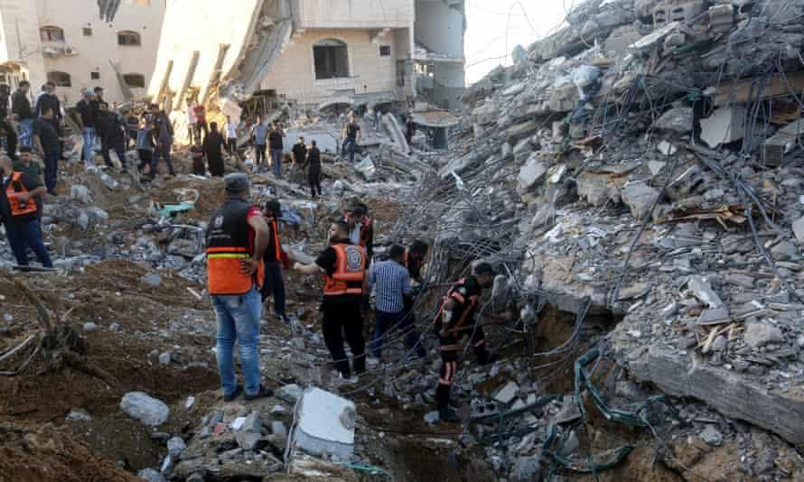 House left in rubble