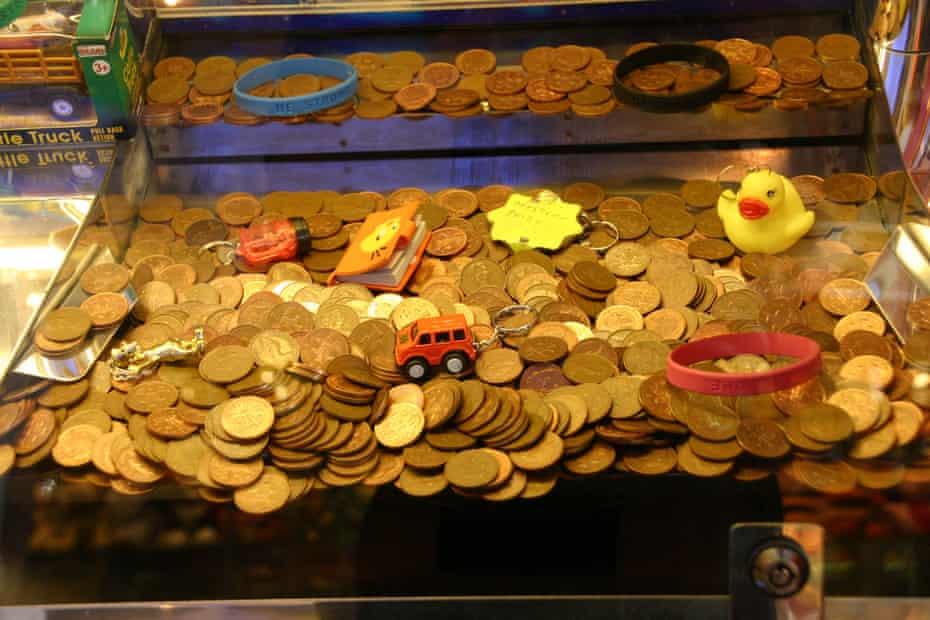 Penny Falls Machine Amusement Arcade North Wales
