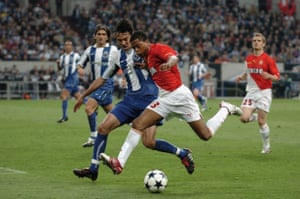 Patrice Evra goes on a run for Monaco in the 2004 Champions League final against Porto.