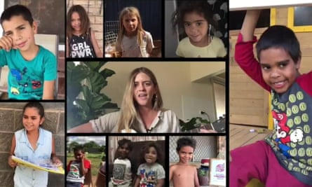 """""""We love you and miss you."""" Wilcannia Central School teacher Sarah Donnelley made a Facebook video using phone footage during coronavirus lockdown. """"It took 12 hours to upload,"""" she said."""