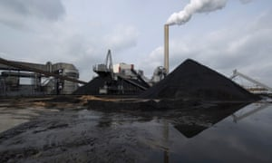 A stack of coal at a power station in Geertruidenberg, Netherlands, in 2010.