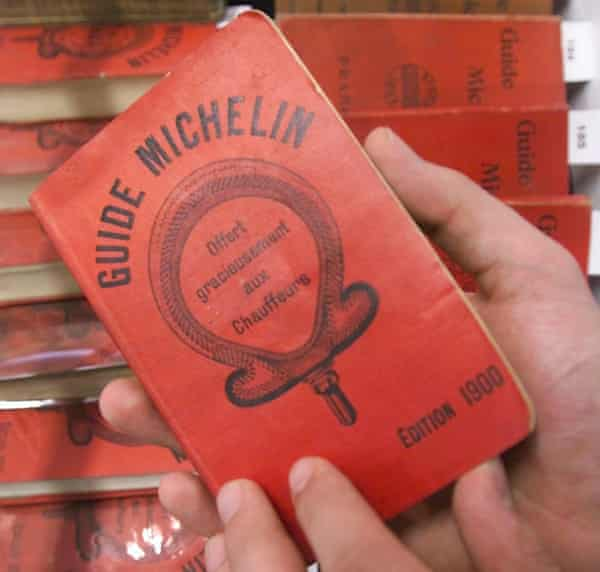 The first edition of Le Guide Michelin, from 1900.