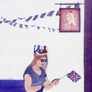 Two crowns: a pub sign and a royal enthusiast