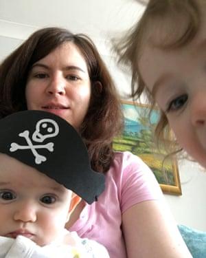 Katie Davis and her children.
