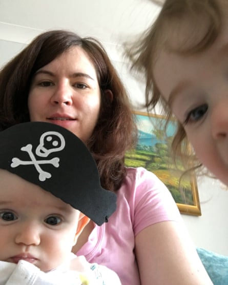 Katie Davies and her children.
