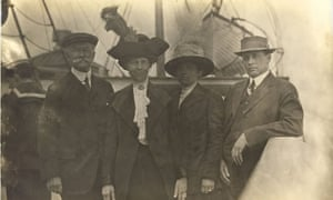 James Fenwick and his wife, Mabel (both on the right), who were on board the SS Carpathia.