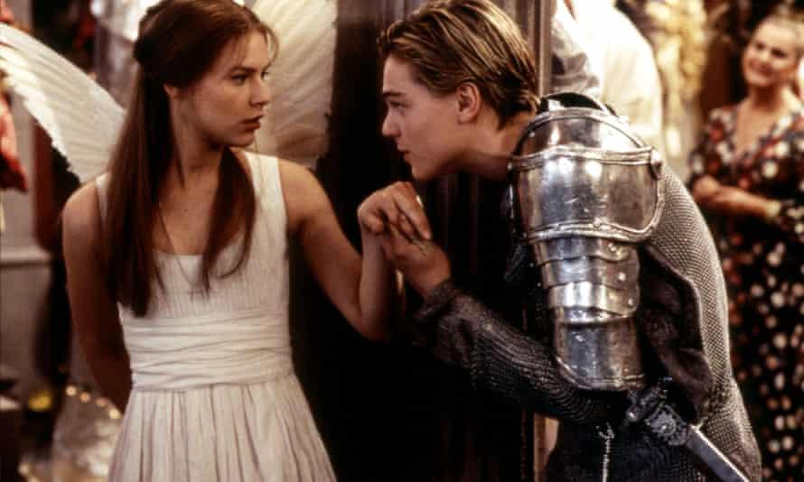 Leonardo DiCaprio and Claire Danes in the Romeo + Juliet film