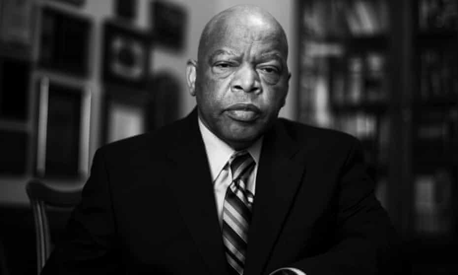 Congressman John Lewis in his offices in Washington DC, March 2009.