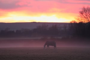 Misty sunset over the Cam valley Photograph: Gerard Clinton/GuardianWitness