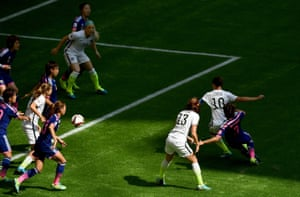 Carli Lloyd fires home the opening goal.