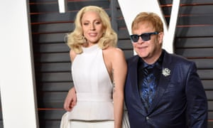 Lady Gaga and a well-preserved Elton John go to the Vanity Fair party.