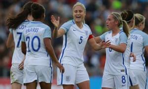 Steph Houghton, No5, and her England team-mates go into Euro 2017 among the tournament favourites.