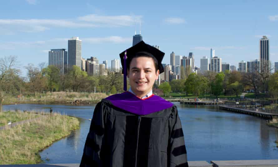 Gabriel Lara, who just graduated from Chicago-Kent College of Law, has seen his job offer postponed.