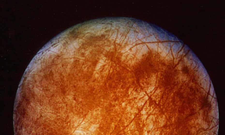 Jupiter's ice-covered moon, Europa.