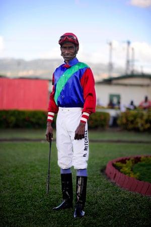 Jockey Richard Mitchell between races