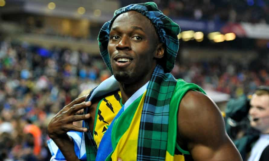 Jamaica's Usain Bolt at the 2014 Commonwealth Games in Glasgow.